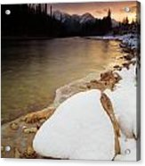 Bow River Sunrise Acrylic Print