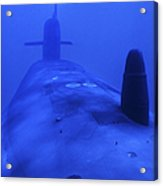Bow View Of The Uss Kamehameha Acrylic Print by Michael Wood