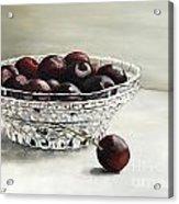 Bowl Full Of Cherries Acrylic Print