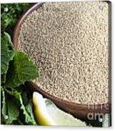 Bowl Of Amaranth Seeds Acrylic Print