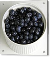 Bowl Of Blueberries Acrylic Print