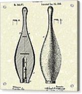 Bowling Pin 1895 Patent Art Acrylic Print