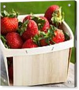 Box Of Strawberries Acrylic Print