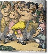 Boxing Match, 1812 Acrylic Print