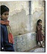 Boy And Girl Acrylic Print