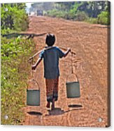 Boy Carrying Drinking Water Acrylic Print