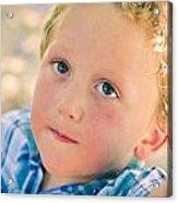 Boy In Tree Acrylic Print