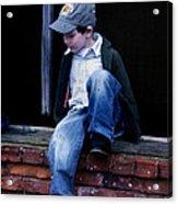 Boy In Window Acrylic Print