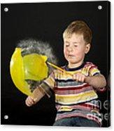 Boy Popping A Balloon Acrylic Print