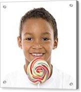 Boy With Lollipop Acrylic Print