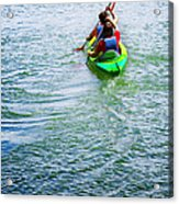 Boys Rowing Acrylic Print