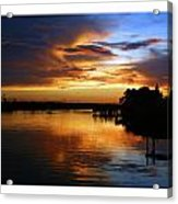 Braden River Sunset Acrylic Print