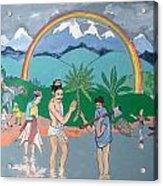 Brahmadatta Finds Mango Acrylic Print by Scott Cumming