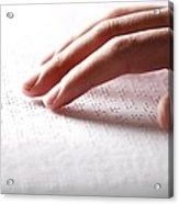 Braille Reading Acrylic Print