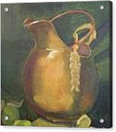 Brass And Tomatillos Acrylic Print by Lilibeth Andre