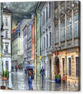 Bratislava Rainy Day In Old Town Acrylic Print