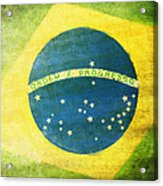 Brazil Flag Acrylic Print by Setsiri Silapasuwanchai