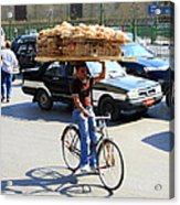 Bread On A Bicycle Acrylic Print