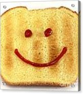 Bread With Happy Face Acrylic Print