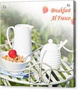 Breakfast Al Fresco Acrylic Print by Amanda Elwell