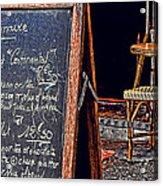 Breakfast In Paris Acrylic Print by Tony Grider