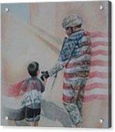 Breaking Borders Acrylic Print by Joanna Gates