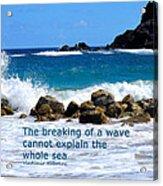 Breaking Waves Acrylic Print