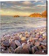 Breakwater Beach Acrylic Print