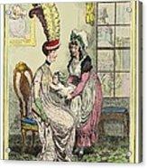 Breastfeeding, 18th-century Caricature Acrylic Print