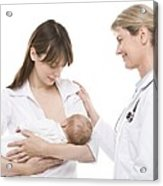 Breastfeeding Advice Acrylic Print by