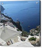 Breathtaking Santorini Acrylic Print