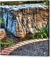 Brenda's Boulder At Dawn Or Altar In The Garden Acrylic Print