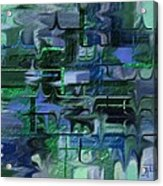 Brick And Blue Acrylic Print