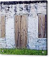 Brick And Wooden Building Acrylic Print