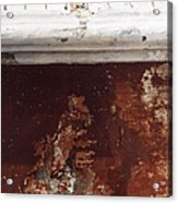 Brick Red Wall Detail Acrylic Print