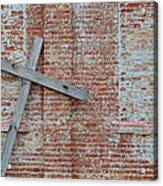 Brick Wall Cross Acrylic Print