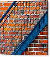 Bricks And Steel Acrylic Print