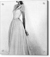Bridal Gown, 1947 Acrylic Print