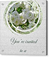 Bridal Shower Invitation - White Spirea Acrylic Print