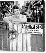 Bride On The Barricade On Bourbon St Nola Acrylic Print