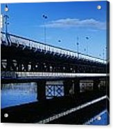Bridge Across A River, Double-decker Acrylic Print