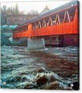 Bridge Across The Ammonoosuc River Acrylic Print