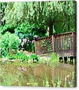 Bridge And Hydrangea Acrylic Print