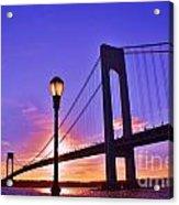 Bridge At Sunset 2 Acrylic Print