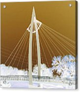 Bridge Iced Acrylic Print by David Alvarez