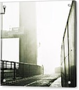 Bridge In Mist Acrylic Print