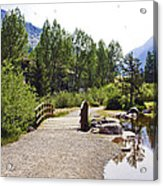 Bridge In Vail - Colorado Acrylic Print