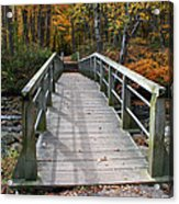 Bridge Into Autumn Acrylic Print