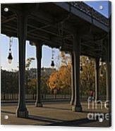 Bridge Of Bir Hakeim In Paris Acrylic Print