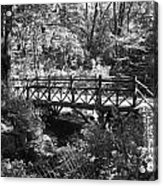 Bridge Of Centralpark In Black And White Acrylic Print